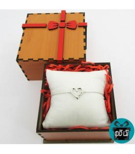 دستبند نقره قلب بینهایت مدل 3