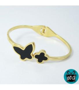 دستبند زنانه استیل مدل پروانه