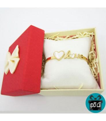 دستبند استیل دخترانه مدل عشق