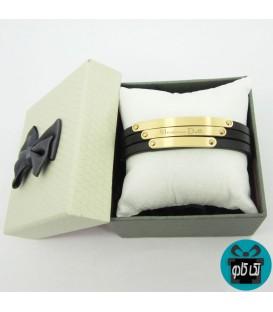 دستبند مردانه چرم ماسیمو دوتی (Massimo Dutti)