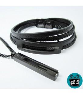 ست دستبند و گردنبند مردانه گوچی GUCCI