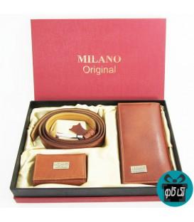 ست هدیه مردانه سه تکه چرم MILANO