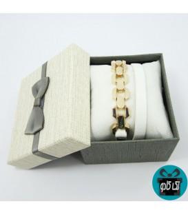 دستبند زنانه چرم مدل آیسودا