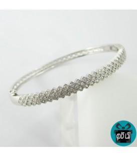 دستبند النگویی نقره مدل پرنس