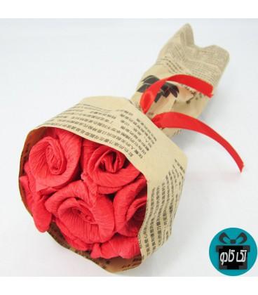 دسته گل کاغذی شماره 2